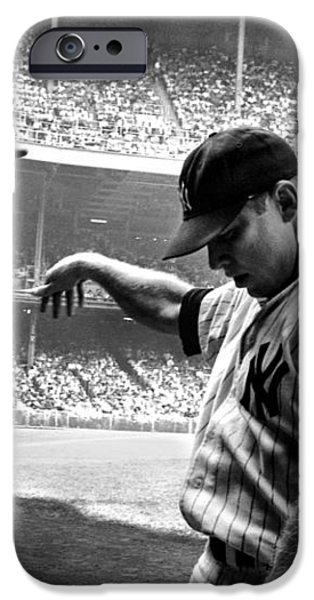 Mickey Mantle iPhone Case by Gianfranco Weiss
