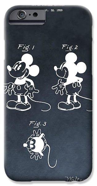 Animation iPhone Cases - Mickey Mouse iPhone Case by Dan Sproul
