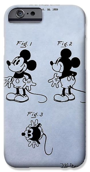 Toy Store iPhone Cases - Mickey Mouse Patent iPhone Case by Dan Sproul