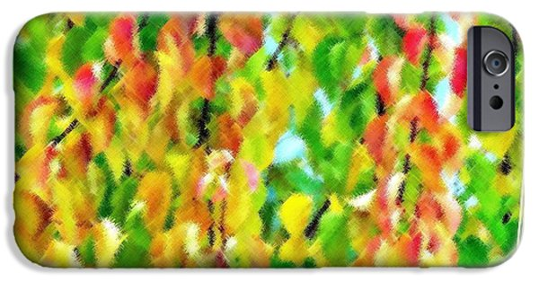 Energize iPhone Cases - Micro Linear Apricot Leaves iPhone Case by Will Borden