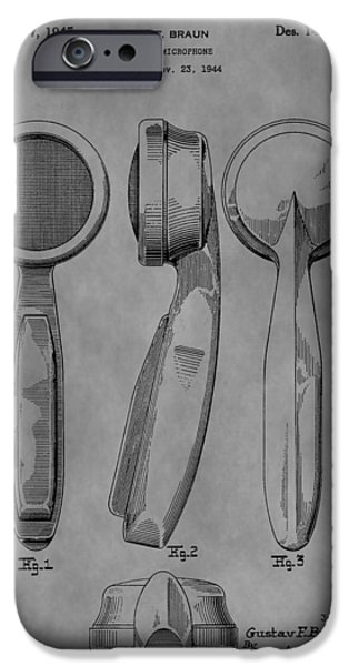 Electrical iPhone Cases - Microphone Patent iPhone Case by Dan Sproul