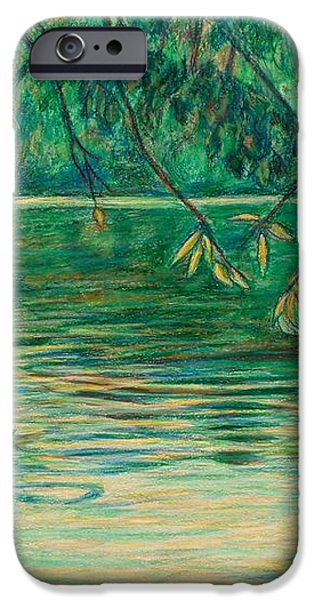 Mid-Spring on the New River iPhone Case by Kendall Kessler