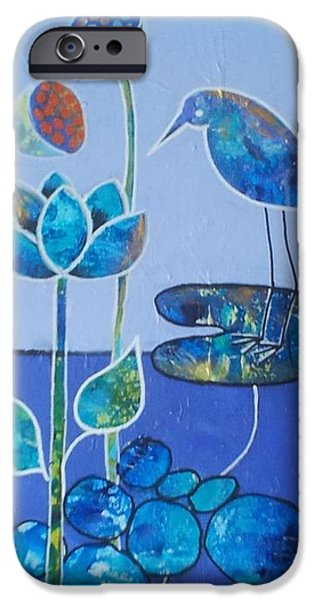 Midday Paintings iPhone Cases - Midday iPhone Case by Almeta LENNON