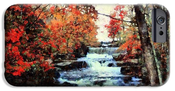 Grist Mill iPhone Cases - Middle Creek Mill Falls iPhone Case by Janine Riley