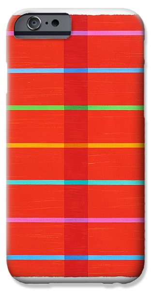 Transparency Geometric iPhone Cases - Middle Stripe III iPhone Case by Amy Van Helden