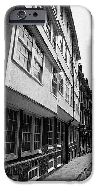 middle temple lane London England UK iPhone Case by Joe Fox