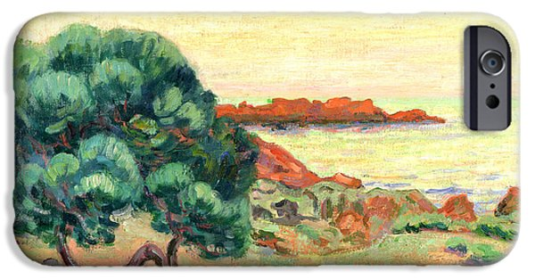 Sea iPhone Cases - Midi Landscape iPhone Case by Jean Baptiste Armand Guillaumin
