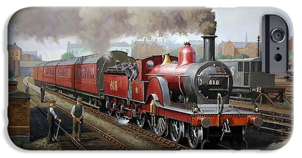 Edwardian iPhone Cases - Midland Railway single 1896. iPhone Case by Mike  Jeffries