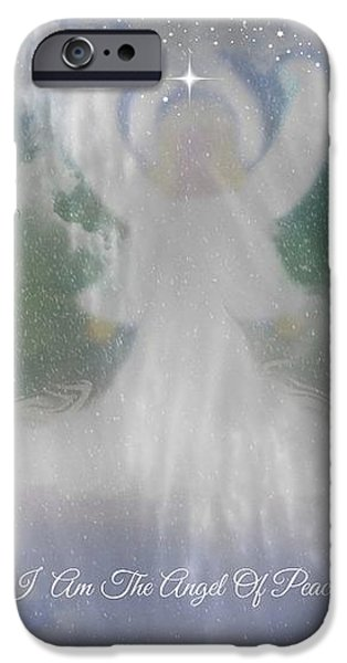 Midnight Angel Of Peace iPhone Case by Sherri  Of Palm Springs