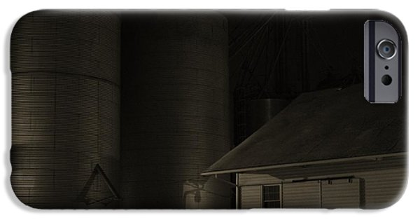 Feed Mill Photographs iPhone Cases - Midnight at the Mill iPhone Case by Doug Hubbard