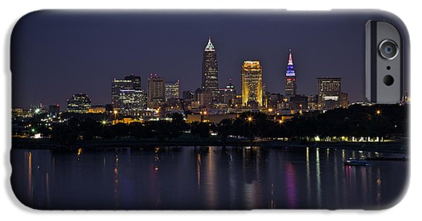 Midnight Blue iPhone Cases - Midnight Blue In Cleveland iPhone Case by Dale Kincaid