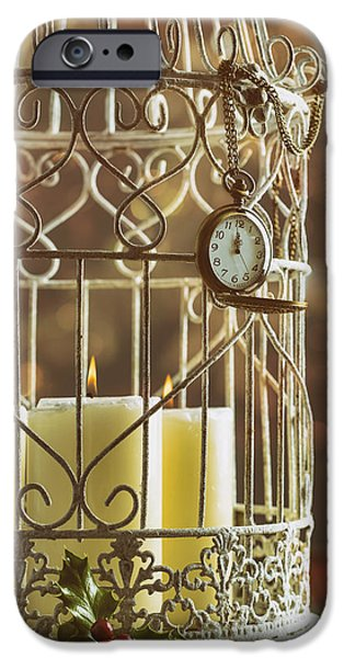 Bird Cage iPhone Cases - Midnight Candles iPhone Case by Amanda And Christopher Elwell