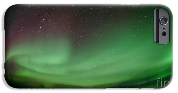 Northern Lights iPhone Cases - Midnight Dome iPhone Case by Priska Wettstein