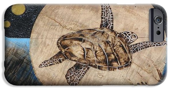 Flight Pyrography iPhone Cases - Midnight Fight iPhone Case by Bea Israel
