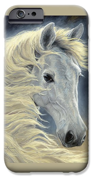 Arabian Paintings iPhone Cases - Midnight Glow iPhone Case by Lucie Bilodeau