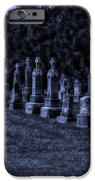 Midnight In The Garden Of Stones iPhone Case by Thomas Woolworth