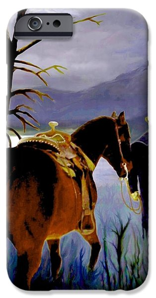 Temecula iPhone Cases - Midnight Ride iPhone Case by Ronald Chambers