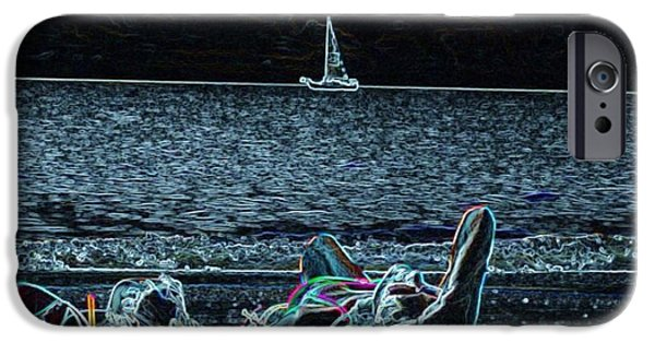 Boat iPhone Cases - Midnight Run iPhone Case by Wayne Cantrell