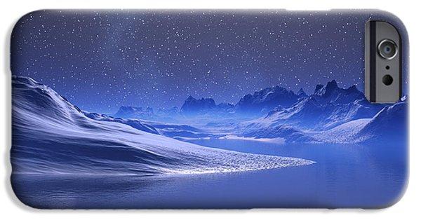 Winter Storm iPhone Cases - Midnight Snow iPhone Case by Judi Suni Hall
