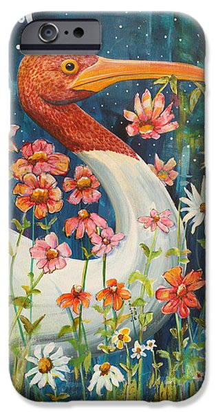 Fanciful iPhone Cases - Midnight Stork Walk iPhone Case by Blenda Studio