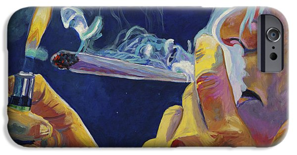 Smoking iPhone Cases - Midnight Toker iPhone Case by Anita Toke