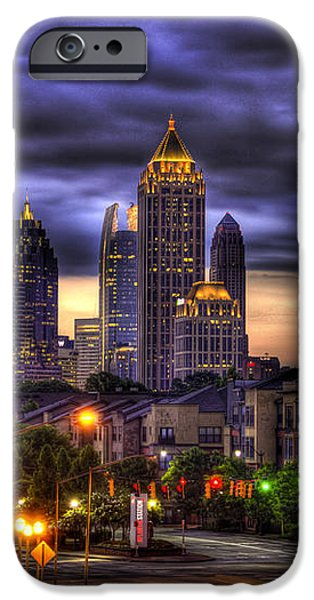 Midtown Atlanta Towers Over Atlantic Commons iPhone Case by Reid Callaway