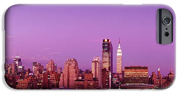Moonscape iPhone Cases - Midtown Nyc, New York City, New York iPhone Case by Panoramic Images