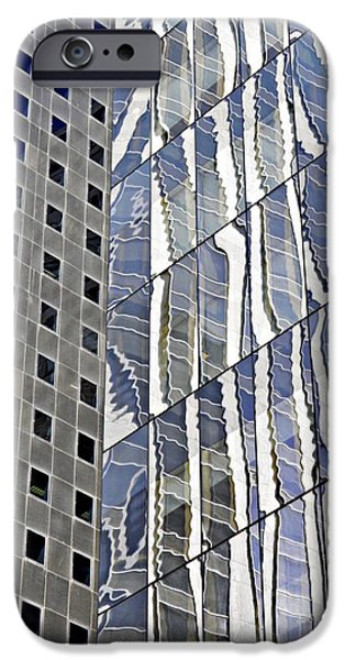 United iPhone Cases - Midtown Reflections 2 iPhone Case by Sarah Loft