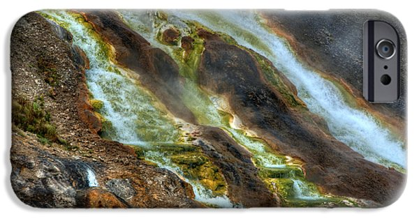 Alga iPhone Cases - Midway Geyser Basin, Yellowstone iPhone Case by Mark Newman