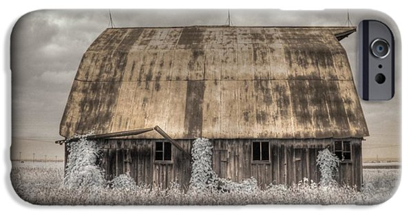 Old Barn Photo Photographs iPhone Cases - Midwestern Barn iPhone Case by Jane Linders