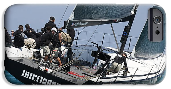Sailboat Ocean iPhone Cases - Midwinter Regatta iPhone Case by Steven Lapkin