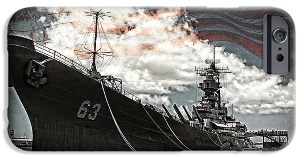 Battleship iPhone Cases - Mighty MO U.S.S. Missouri iPhone Case by Ken Smith