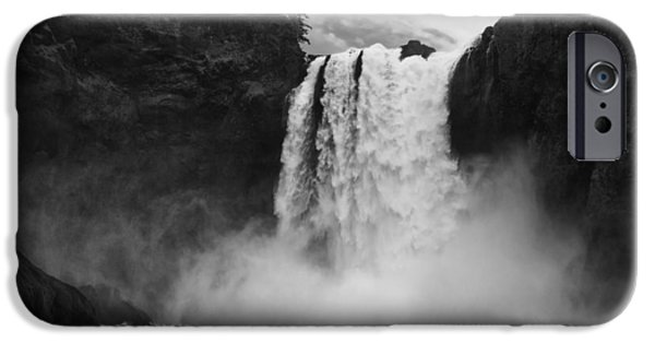 Floods iPhone Cases - Mighty Snoqualmie iPhone Case by Mark Kiver