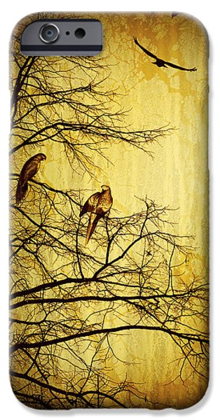 Fowl iPhone Cases - Migratory iPhone Case by Lourry Legarde