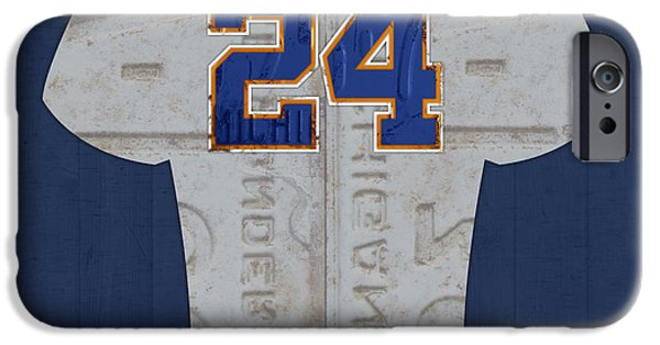 Detroit Tigers Baseball Art iPhone Cases - Miguel Cabrera Detroit Tigers Baseball Team Jersey License Plate Art iPhone Case by Design Turnpike