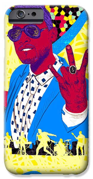 Miguel Drawing In Lines iPhone Case by Kenal Louis