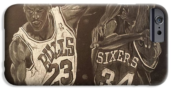 Jordan Pastels iPhone Cases - Mike and Sir Charles iPhone Case by DMo Herr