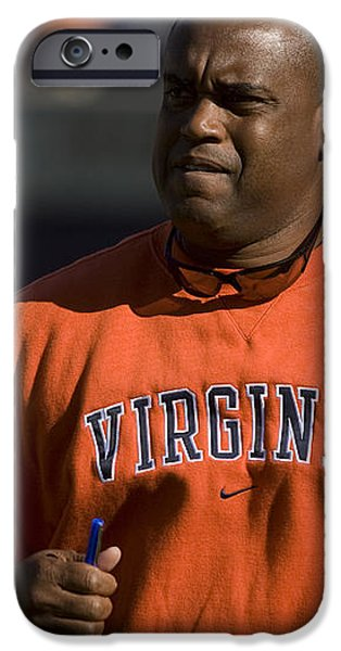 Mike London Virginia Cavaliers Football iPhone Case by Jason O Watson