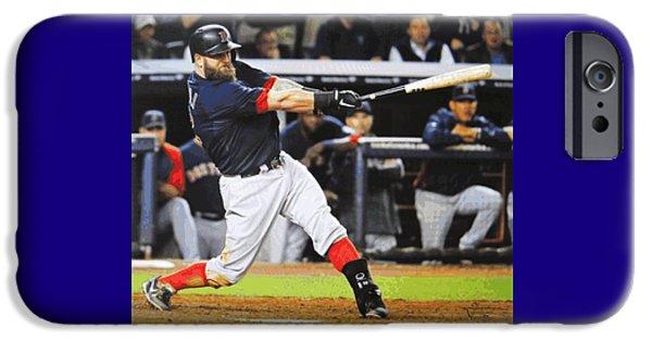 Baseball Stadiums Mixed Media iPhone Cases - Mike Napolis Grand Slam  iPhone Case by Dan Haraga