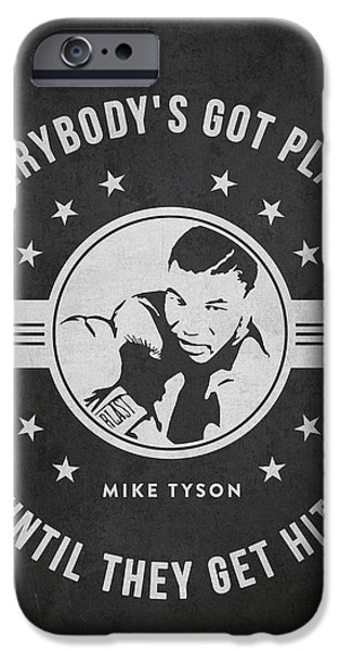 Best Sellers -  - Boxer Digital Art iPhone Cases - Mike Tyson - Dark iPhone Case by Aged Pixel