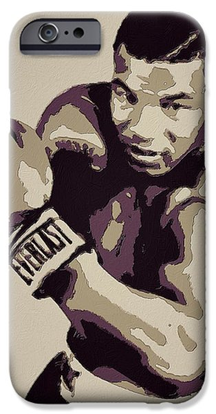 Boxer Digital iPhone Cases - Mike Tyson Poster Art iPhone Case by Florian Rodarte