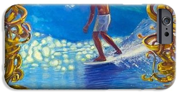 Malibu Paintings iPhone Cases - Miki Dora iPhone Case by Michael Knowlton