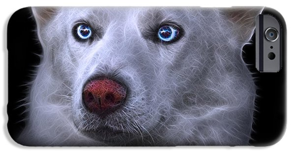 Recently Sold -  - Husky iPhone Cases - Mila - Siberian Husky - 2103 - BB iPhone Case by James Ahn