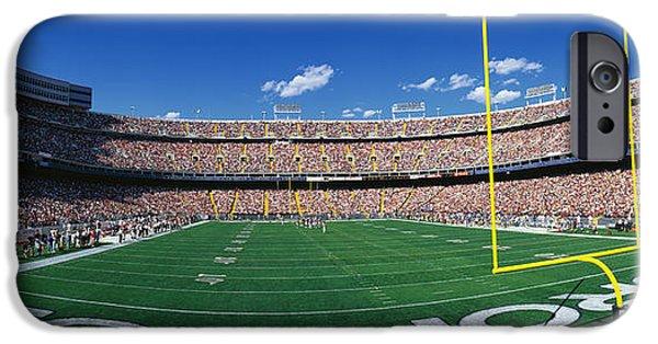 Pleasure iPhone Cases - Mile High Stadium iPhone Case by Panoramic Images