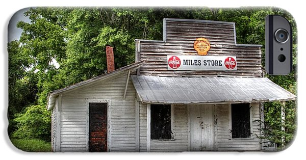 Country Store iPhone Cases - Miles Country Store iPhone Case by Benanne Stiens