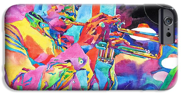 Miles Davis iPhone Cases - Miles Davis Bebop iPhone Case by David Lloyd Glover