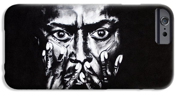 Kim Drawings iPhone Cases - Miles Davis iPhone Case by Kim Chigi