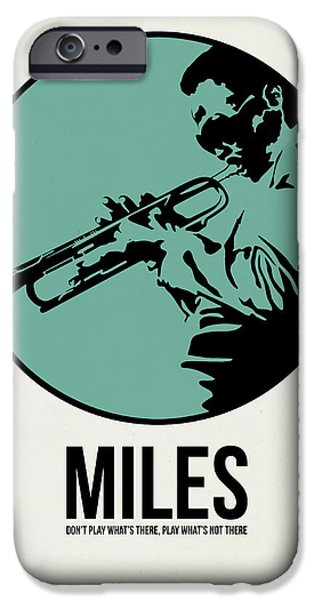 Miles Davis iPhone Cases - Miles Poster 1 iPhone Case by Naxart Studio