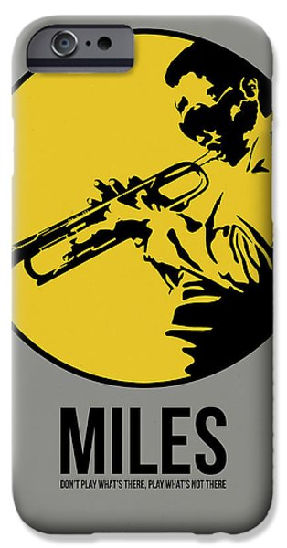 Miles Davis iPhone Cases - Miles Poster 3 iPhone Case by Naxart Studio