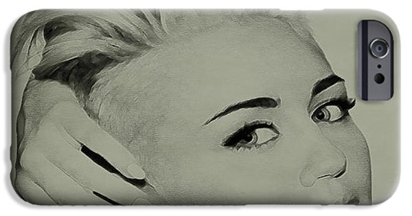 Best Sellers -  - Destiny iPhone Cases - Miley Cyrus  iPhone Case by Brian Reaves